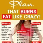 2 week workout plan at home to lose belly fat - #Belly #Fat #fitness #Home #Lose...